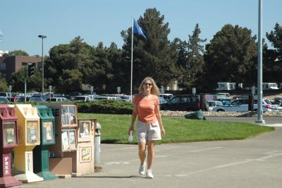 Rebecca on the Vallejo Waterfront